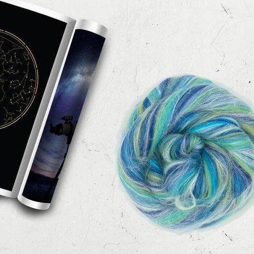 Merino & Tussah Silk Blend : Constellation (Aquarius)