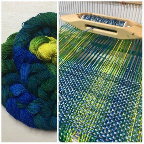 Hand-Painting Yarn