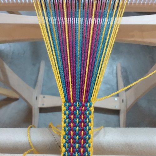 Band Weaving on Rigid Heddle Loom