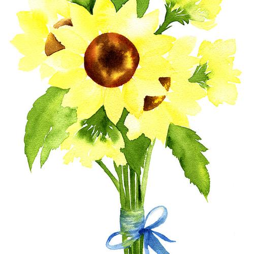 Loose Watercolour Florals