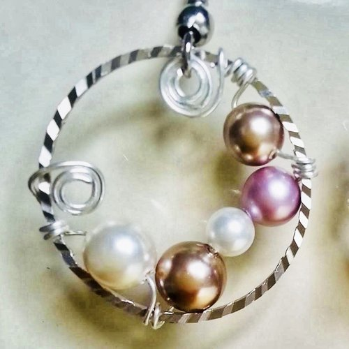 Beginner Pearl Wrapped Earrings